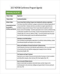 Sample Program Agenda Templates 11 Free Sample Example Format