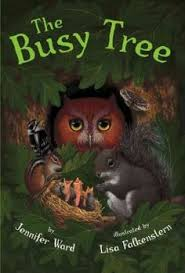 busy tree by jennifer ward spectacular ilrations rendered in oil paint and a rhyming text that describes a tree s activities from its roots to its