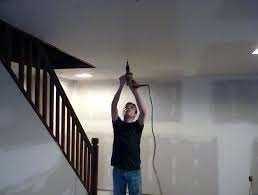 how to hang drywall on ceiling by yourself hanging
