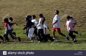 Alfredo Smith, right, leads a class of Canyon Crest Academy students Stock  Photo - Alamy