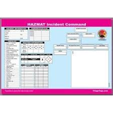 Mci Ics Chart Dms 05566 Hazmat Incident Command Worksheet Refill Pad This