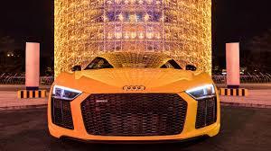 2017 Audi R8 V10 Plus (610hp) in Vegas Yellow - Sound, launch ...