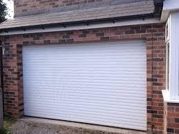 white insulated roller garage door
