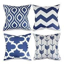 navy throw pillows. Fine Navy Popeven 4 Packs Navy Blue Throw Pillows Home Decor Design Pillow Covers For  Living Room Square In T