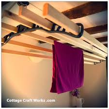 vintage suspended ceiling clothes drying rack sheila maid clothes dryer