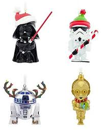 Here's a cute set of Christmas tree ornaments form Hallmark. I love how  this set includes four of our favorite Star Wars character including C3PO,  ...