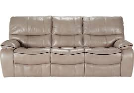 beige reclining sofa. Brilliant Reclining Cindy Crawford Home Gianna Mushroom Leather Reclining Sofa  Sofas  Beige In Beige F