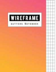 Wireframe Gutters Notebook Graph Writing Blank Book Grid Handwriting Journal Squared Grid Notebook Graphing Paper Is Made Up Of 1 3 Inch Boxes