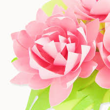How To Make A Lotus Flower Out Of Paper Lotus Style Paper Flower Templates