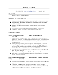 Free Work Experience Free Medical Assistant Work Experience Resume Templates At