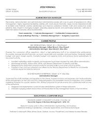 admin manager cv sample