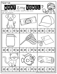 vowel worksheet