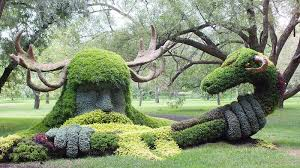 mosaiculture in montreal botanical garden