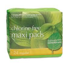 <b>Chlorine</b>-<b>Free Maxi</b>-Pads, 24/Box - WB Mason