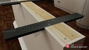 wooden countertop support brackets support brace flat wall bracket by the original granite bracket install view wooden countertop support