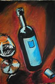 wine art painting