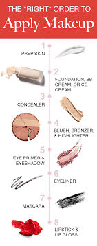 the order to apply your makeup s