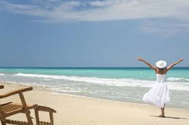 Image result for lady on beach