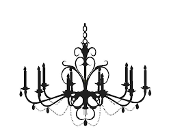white chandelier wall decal chandelier wall decal silhouette clip art chandelier chandelier barn market