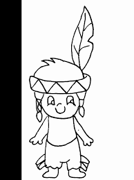 Native American Boy Girl Coloring Page 2019 Open Coloring Pages