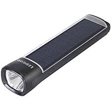 Only 1201 7 LED Solar Power Flashlight Camping Lamp Torch Black Solar Powered Torch Lights