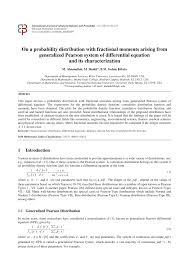 pdf on a probability distribution with fractional moments arising from generalized pearson system of diffeial equation and its characterization