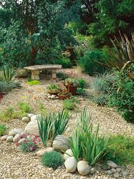 gardens shows off the many ways gravel pebbles bark chips and other soft
