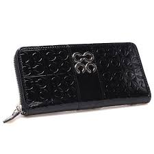 BestSeller Coach Logo Monogram Large Black Wallets CHQ