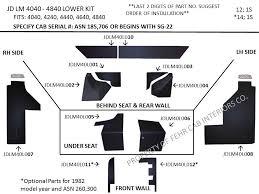 search fehr cab interiors jdlm40l john deere lm 4040 4840 lower kit