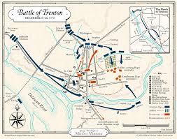 Map Battle Of Trenton George Washingtons Mount Vernon