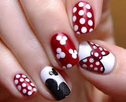 easy mickey mouse nail art design women makeup disney gel nails designs