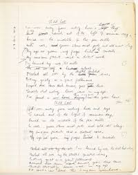 the seamus heaney literary papers manuscript drafts of child lost dated 1966 marginal notes in which heaney works out the poem s meter ms 49 493 5