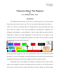 Rapture Vs Second Coming Chart Pdf Theories About The Rapture Victor Christianto