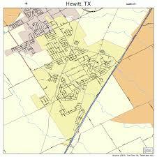 Hewitt Tx Hewitt Texas Street Map 4833428