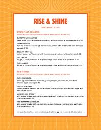 Breakfast Menu Template Extraordinary Sunrise Breakfast Menu Breakfast Menus