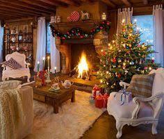 fashioned christmas living room