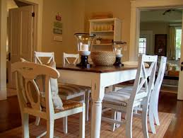 room simple dining sets: simple wood dining room chairs delightful awesome distressed dining room chairs which are made from white wooden material facing simple dining table with