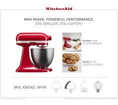Designer Kitchen Aid Mixers Kitchenaid 35qt Mini Artisan Stand Mixer With Flex Edge Beater