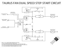 transistors basic v step start circuit for automotive fans note there are two different discrete circuits for each fan speed the main relay is powered by a 12v switched source so the fans only work when the car s