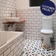 ... Retro Metro White Gloss Bevelled Brick Tile