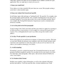 Letter For Job Via Email With Regard Cover Format Sample Examples