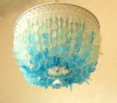 sea glass chandelier lighting sea glass chandelier lighting fixture flush mount coastal decor beach glass sea
