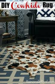 white faux cowhide rug simple and to make a great alternative to a real cowhide cowhide rug no painting required via cowhide rug black and white faux