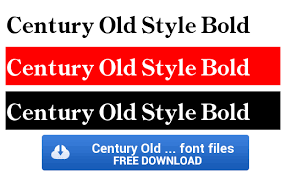 century old style bold font