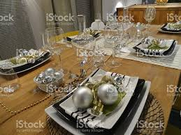 dining place settings. Image Of Christmas Dining Table Placemats / Place-settings, Baubles And Decorations Royalty- Place Settings G