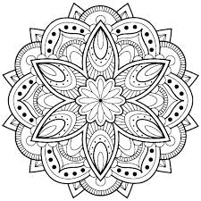 mandala coloring pages easy collection easy mandala coloring pages printable mandala coloring pages