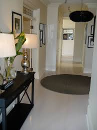 black hallway table. Black Wooden Narrow Hallway Table With Lower Open Shelf Plus Three Drawers To Put Elegant Lamp Also Pretty Vase A
