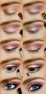 gold and pink glamorous style step by step eyeshadow tutorials
