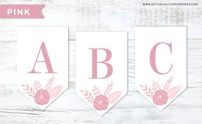 Free Printable Floral Letter Banners Made With Seed Paper