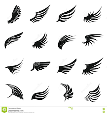 Wing Design Wing Icons Set Simple Stock Vector Illustration Of Design